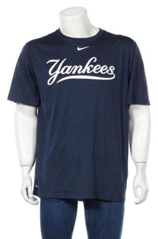 Мъжка тениска Nike, Размер XL, Цвят Син, Полиестер, Цена 25,94лв.
