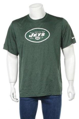 Мъжка тениска Nike, Размер L, Цвят Зелен, Полиестер, Цена 27,93лв.