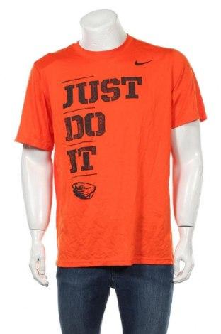 Мъжка тениска Nike, Размер L, Цвят Оранжев, Полиестер, Цена 24,94лв.