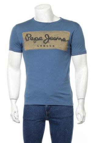 Мъжка тениска Pepe Jeans, Размер M, Цвят Син, Памук, Цена 26,25лв.