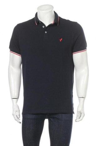 Ανδρικό t-shirt Pier One, Μέγεθος L, Χρώμα Μπλέ, Βαμβάκι, Τιμή 12,37€
