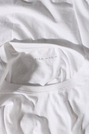 Мъжка тениска Pier One, Размер XL, Цвят Бял, Памук, Цена 9,88лв.