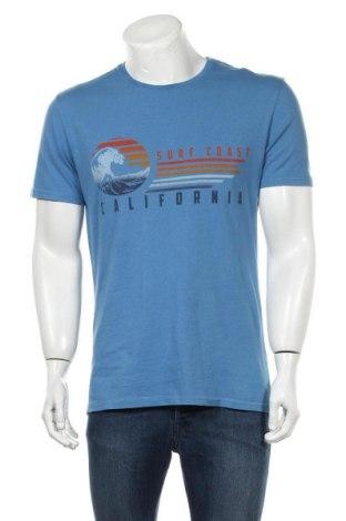 Ανδρικό t-shirt Pier One, Μέγεθος M, Χρώμα Μπλέ, Τιμή 7,77€