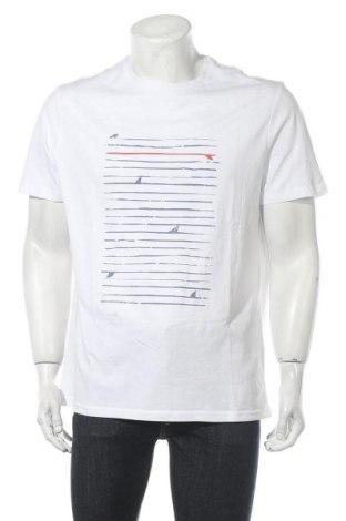 Мъжка тениска Pier One, Размер XXL, Цвят Бял, Памук, Цена 21,00лв.