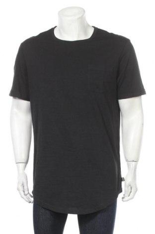 Мъжка тениска Pier One, Размер XL, Цвят Черен, Памук, Цена 21,00лв.