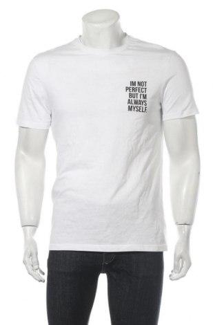 Мъжка тениска Pier One, Размер M, Цвят Бял, Памук, Цена 21,00лв.