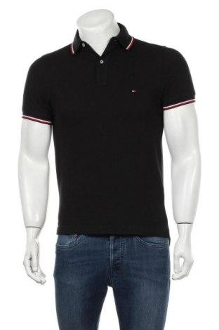 Tricou de bărbați Tommy Hilfiger, Mărime S, Culoare Negru, Bumbac, Preț 194,90 Lei