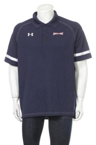 Мъжка тениска Under Armour, Размер XL, Цвят Син, 94% полиестер, 6% еластан, Цена 20,58лв.