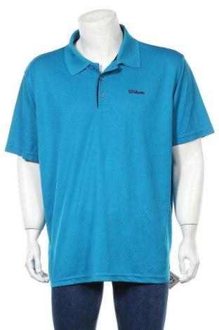 Мъжка тениска Wilson, Размер XL, Цвят Син, Полиестер, Цена 17,96лв.