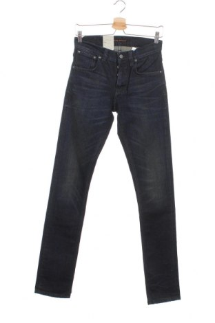 Мъжки дънки Nudie Jeans Co, Размер S, Цвят Син, 99% памук, 1% еластан, Цена 149,25лв.