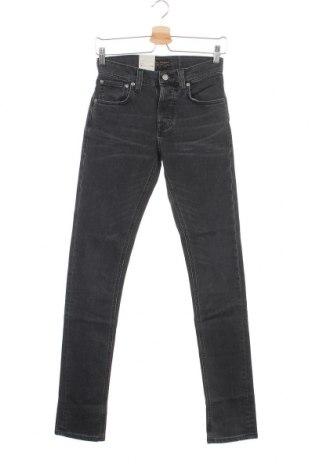 Мъжки дънки Nudie Jeans Co, Размер S, Цвят Сив, 98% памук, 2% еластан, Цена 149,25лв.