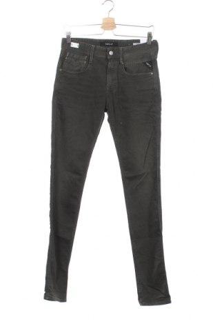 Мъжки дънки Replay, Размер S, Цвят Зелен, 98% памук, 2% еластан, Цена 186,75лв.