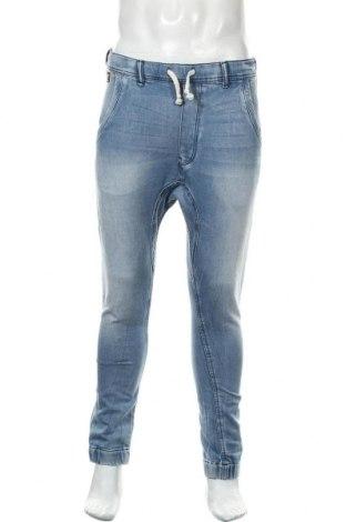 Мъжки дънки Zara Man, Размер M, Цвят Син, 80% памук, 18% полиестер, 2% еластан, Цена 24,36лв.