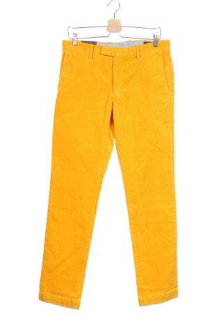 Ανδρικό κοτλέ παντελόνι Polo By Ralph Lauren, Μέγεθος M, Χρώμα Κίτρινο, 99% βαμβάκι, 1% ελαστάνη, Τιμή 73,07€