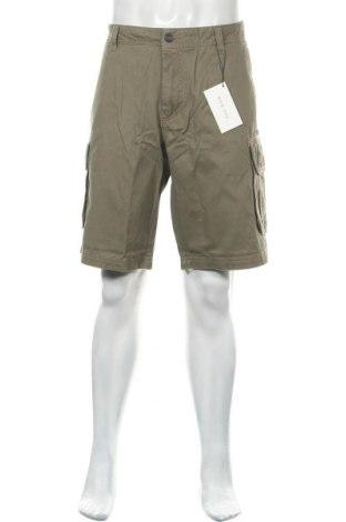 Мъжки къс панталон Pier One, Размер XL, Цвят Зелен, Памук, Цена 37,24лв.