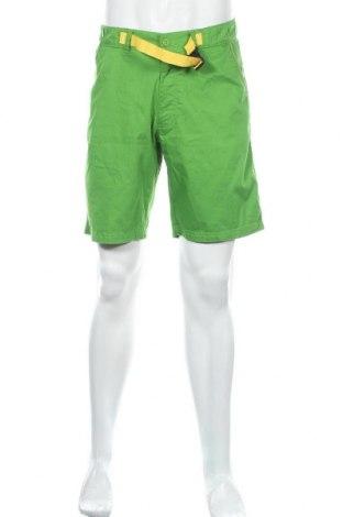 Мъжки къс панталон Quechua, Размер M, Цвят Зелен, 75% памук, 25% полиестер, Цена 22,05лв.