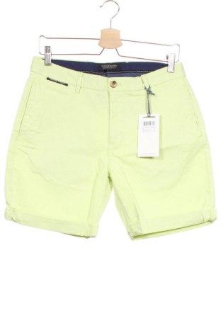 Мъжки къс панталон Scotch & Soda, Размер S, Цвят Зелен, 98% памук, 2% еластан, Цена 104,25лв.