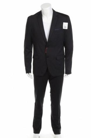 Мъжки костюм Bruno Banani, Размер L, Цвят Черен, 85% полиестер, 13% вискоза, 2% еластан, Цена 55,04лв.