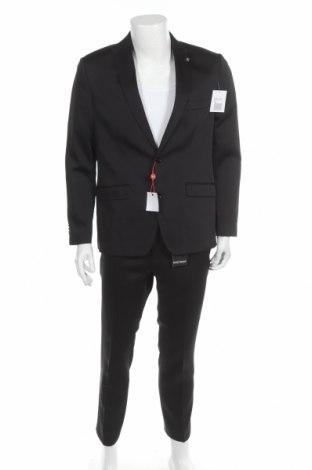 Мъжки костюм Bruno Banani, Размер L, Цвят Черен, 84% полиестер, 14% вискоза, 2% еластан, Цена 107,60лв.
