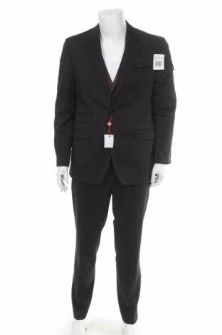 Мъжки костюм Class International, Размер L, Цвят Черен, 83% полиестер, 15% вискоза, 2% еластан, Цена 79,60лв.