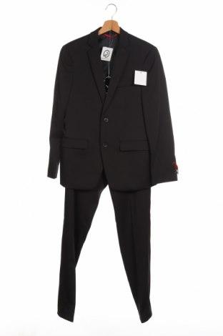 Мъжки костюм Thomas Goodwin, Размер XS, Цвят Черен, 85% полиестер, 13% вискоза, 2% еластан, Цена 52,67лв.
