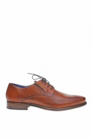 Мъжки обувки Daniel Hechter, Размер 44, Цвят Кафяв, Естествена кожа, Цена 134,25лв.