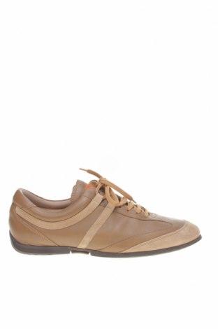 Мъжки обувки Hugo Boss, Размер 43, Цвят Бежов, Естествена кожа, естествен велур, Цена 133,50лв.