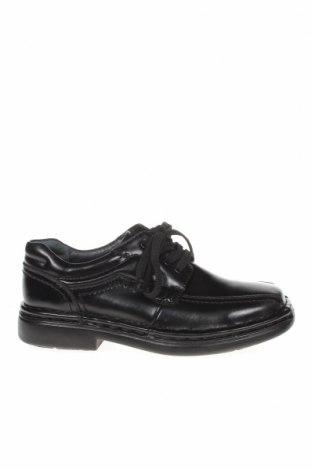 Мъжки обувки Hush Puppies, Размер 39, Цвят Черен, Естествена кожа, Цена 36,02лв.