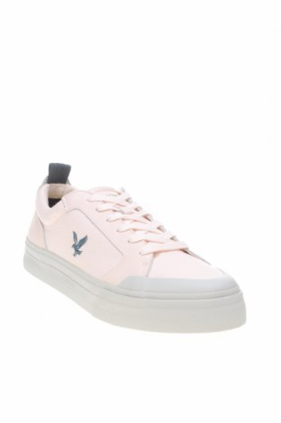 Мъжки обувки Lyle & Scott, Размер 43, Цвят Розов, Текстил, естествена кожа, Цена 106,50лв.