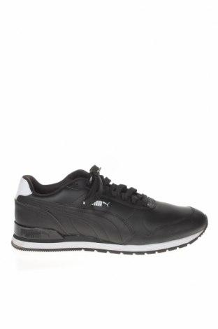 Мъжки обувки PUMA, Размер 41, Цвят Черен, Естествена кожа, еко кожа, Цена 125,30лв.