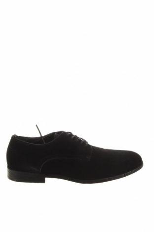 Мъжки обувки Pier One, Размер 41, Цвят Черен, Естествен велур, Цена 89,25лв.