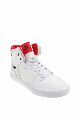 Мъжки обувки Supra, Размер 42, Цвят Бял, Естествена кожа, текстил, Цена 126,75лв.