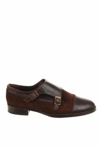 Мъжки обувки Zara Man, Размер 40, Цвят Кафяв, Естествена кожа, естествен велур, Цена 43,20лв.