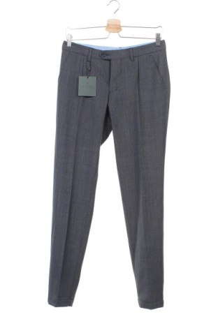 Pantaloni de bărbați Bertoni, Mărime S, Culoare Albastru, 53% poliester, 43% lână, 4% elastan, Preț 40,67 Lei