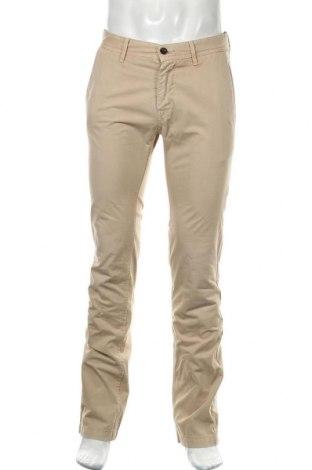 Мъжки панталон Boss Orange, Размер M, Цвят Бежов, Памук, Цена 54,18лв.