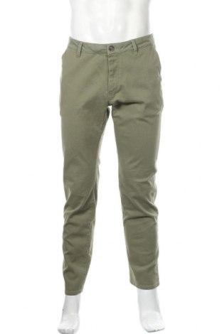 Ανδρικό παντελόνι Pier One, Μέγεθος M, Χρώμα Πράσινο, 98% βαμβάκι, 2% ελαστάνη, Τιμή 24,74€