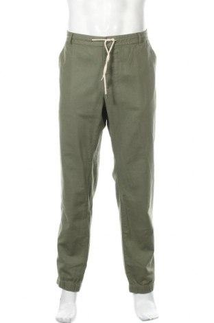 Ανδρικό παντελόνι Pier One, Μέγεθος XXL, Χρώμα Πράσινο, 55% λινό, 45% βαμβάκι, Τιμή 26,68€