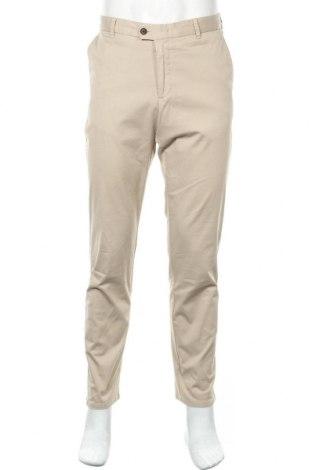 Мъжки панталон Rene Lezard, Размер L, Цвят Бежов, 97% памук, 3% еластан, Цена 49,35лв.