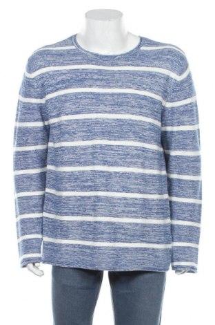 Pulover de bărbați John Devin, Mărime L, Culoare Albastru, 50% bumbac, 50%acril, Preț 45,57 Lei