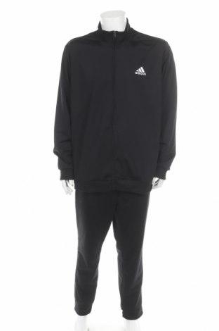 Αθλητικό ανδρικό σύνολο Adidas, Μέγεθος XL, Χρώμα Μαύρο, Πολυεστέρας, Τιμή 64,59€