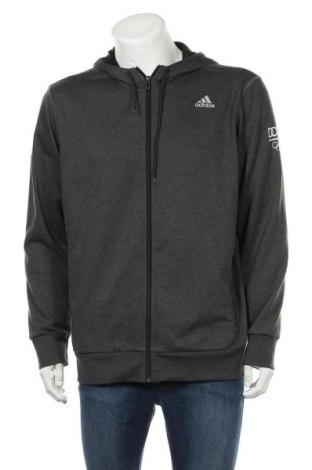 Мъжки суичър Adidas, Размер XXL, Цвят Сив, 65% полиестер, 35% памук, Цена 41,90лв.