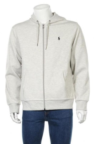 Ανδρικό φούτερ Polo By Ralph Lauren, Μέγεθος L, Χρώμα Γκρί, 57% πολυεστέρας, 43% βαμβάκι, Τιμή 61,47€