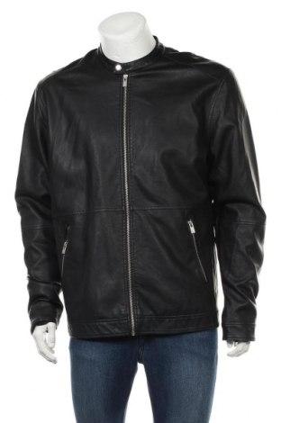 Ανδρικό δερμάτινο μπουφάν ! Solid, Μέγεθος XL, Χρώμα Μαύρο, Δερματίνη, Τιμή 20,98€