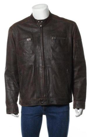 Pánská kožená bunda  Authentic Clothing Company, Velikost XL, Barva Hnědá, Pravá kůže, Cena  976,00Kč