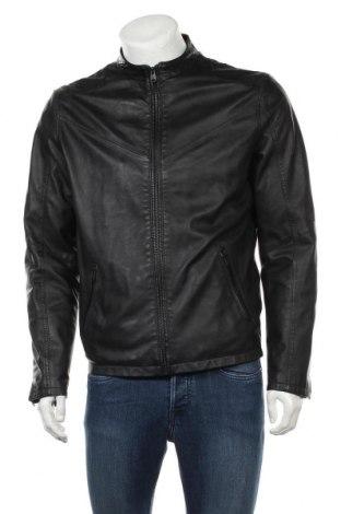 Ανδρικό δερμάτινο μπουφάν Core By Jack & Jones, Μέγεθος M, Χρώμα Μαύρο, Γνήσιο δέρμα, Τιμή 65,70€