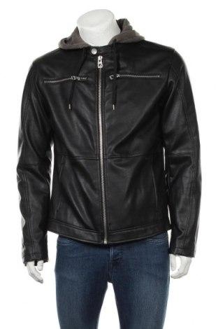 Ανδρικό δερμάτινο μπουφάν Edc By Esprit, Μέγεθος L, Χρώμα Μαύρο, Δερματίνη, Τιμή 22,64€