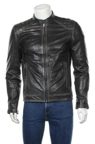 Ανδρικό δερμάτινο μπουφάν Gipsy, Μέγεθος S, Χρώμα Μαύρο, Γνήσιο δέρμα, Τιμή 88,33€