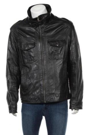 Ανδρικό δερμάτινο μπουφάν Mac Douglas, Μέγεθος XL, Χρώμα Μαύρο, Γνήσιο δέρμα, Τιμή 59,62€