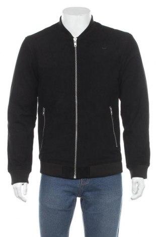 Ανδρικό δερμάτινο μπουφάν Premium By Jack & Jones, Μέγεθος L, Χρώμα Μαύρο, Φυσικό σουέτ, Τιμή 71,96€