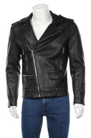Ανδρικό δερμάτινο μπουφάν Zara Man, Μέγεθος M, Χρώμα Μαύρο, Δερματίνη, Τιμή 33,77€